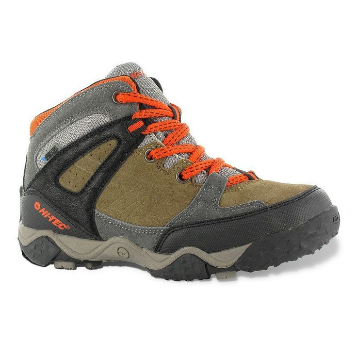 Hi-Tec Tucano Waterproof Jr. Kids' Hiking Boots, Kids Unisex, Size: 10 T, Beig/Green (Beig/Khaki)
