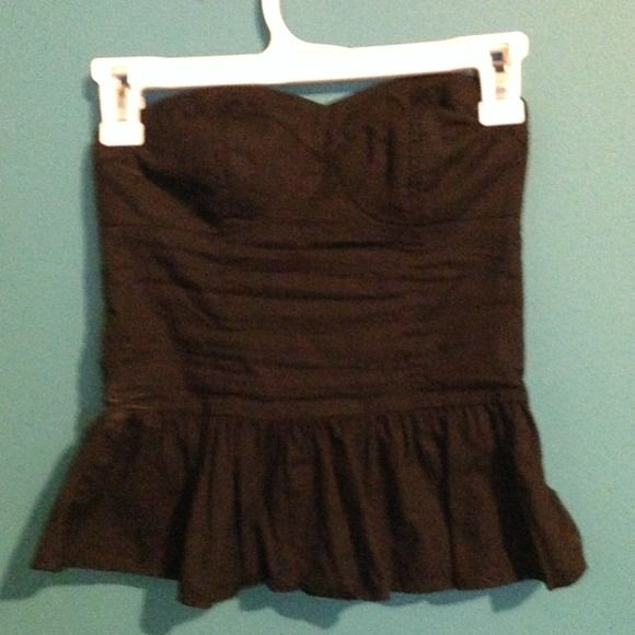 Black Strapless Bustier Target Black Bustier. Good Condition. Seen on in other item Tops