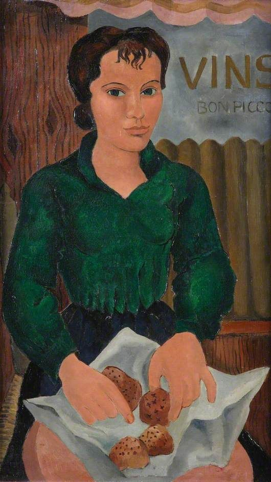 Girl with Cakes by Christopher Wood (English 1901 - 1930)