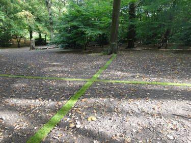 Turfwork 1: Site specific installation in Queens Wood, London  by Rachel Wilson