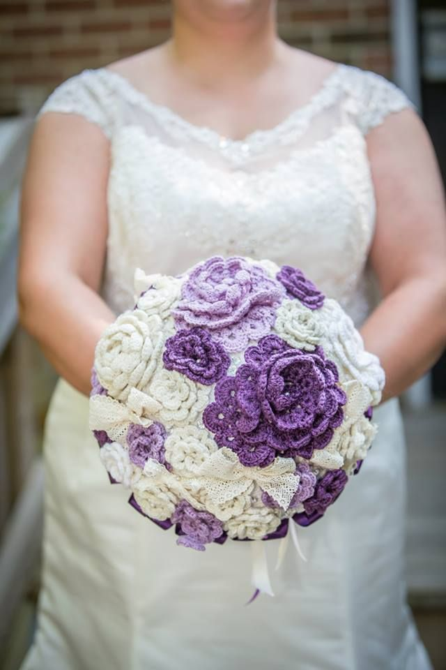 After months of hard work, my crocheted bouquet really paid off! - Imgur