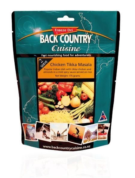 Back Country Freeze Dried Chicken Tikka Hiking Food - Convenient, but very expensive for long trips