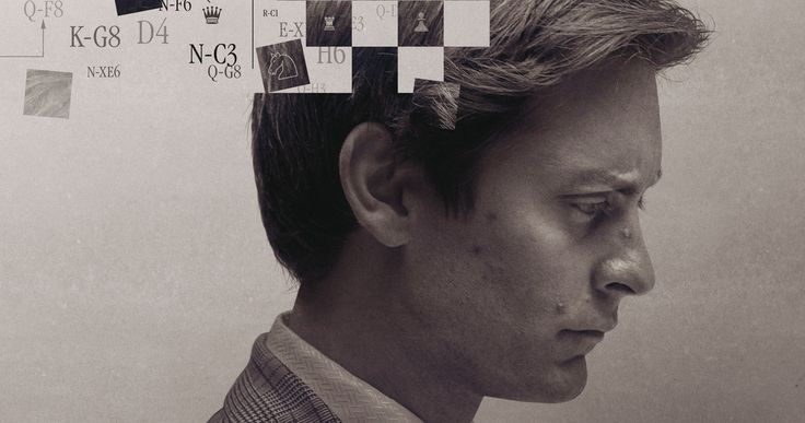'Pawn Sacrifice' Poster: Tobey Maguire Is Bobby Fischer -- Tobey Maguire stars as American chess prodigy Bobby Fischer in the gripping true story 'Pawn Sacrifice', in theaters this September. -- http://movieweb.com/pawn-sacrifice-movie-poster/