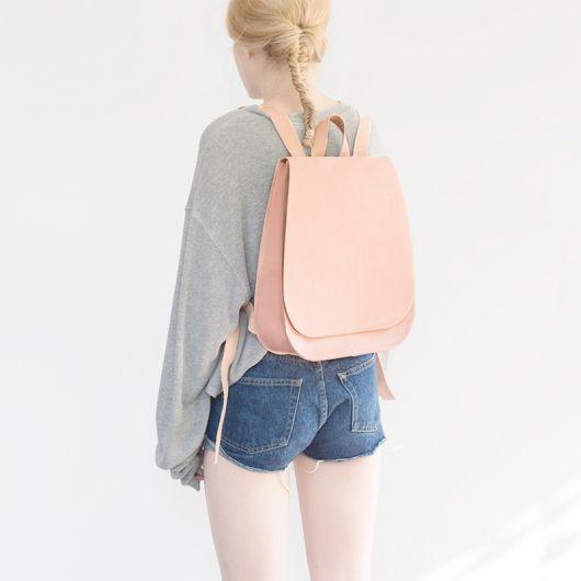 Lederrucksack – MUM & CO. – rosa