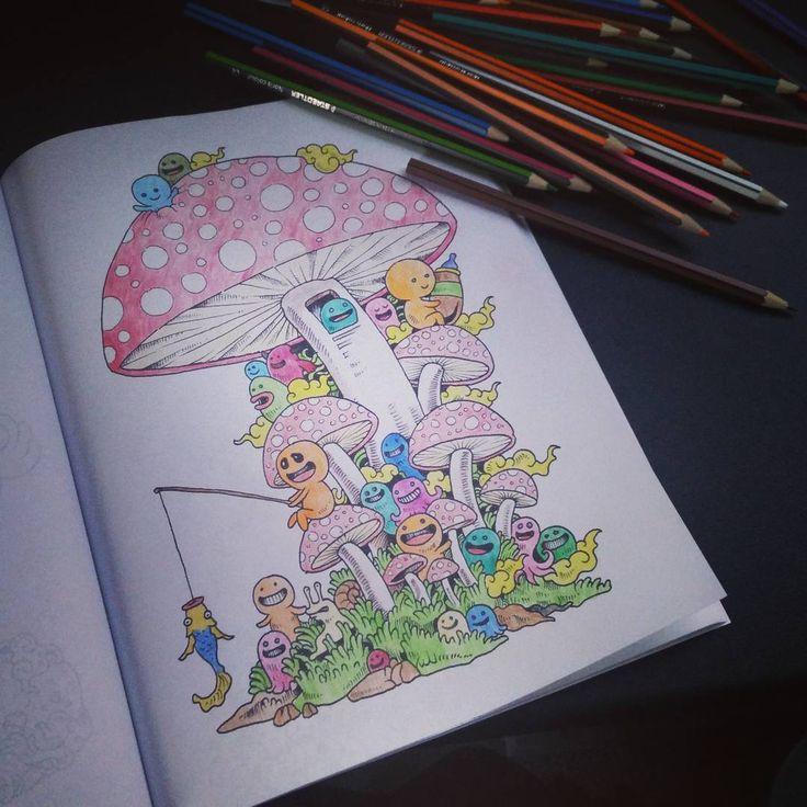 """""""Być dużym dzieckiem  Relaks w 100%, Bo przecież dorośli nie wychodzą za linie  #kolorowankadladorosłych #kolorowanka #doodleinvasion"""""""