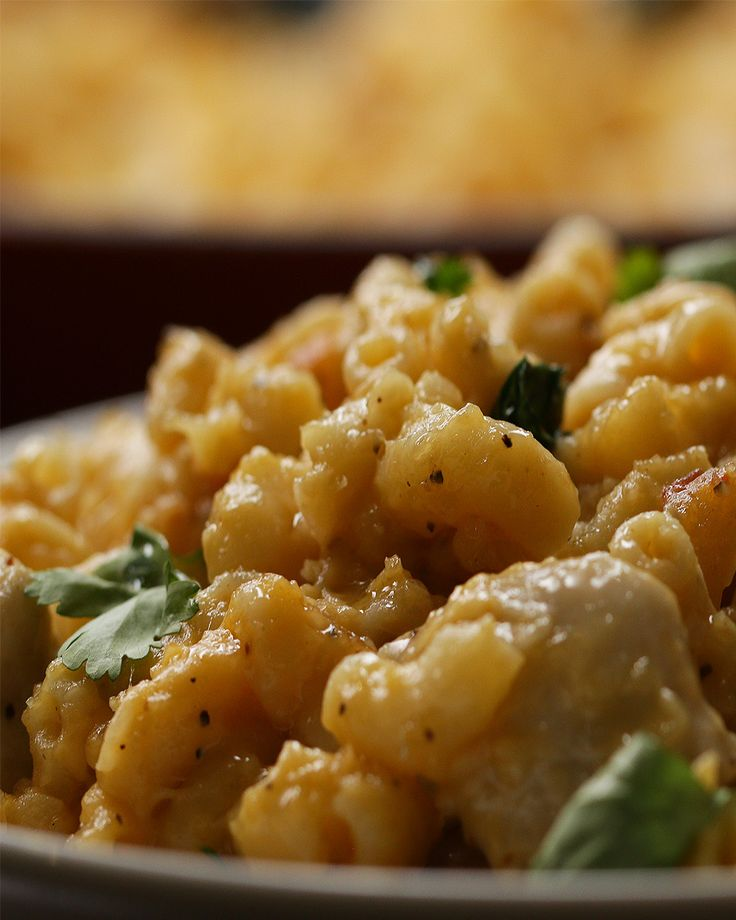 Butter Chicken Mac 'N' Cheese. Replace with gf pasta