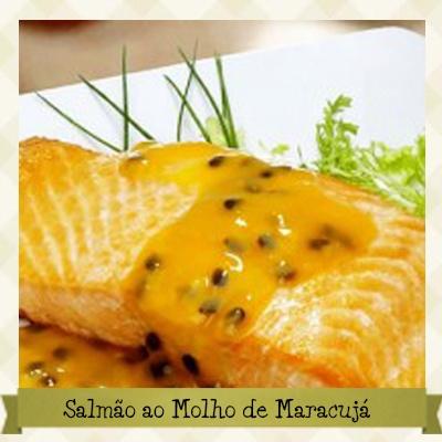 Salmão ao Molho de Maracujá Sem Glúten - Receita completa em: http://cozinhandosemgluten.com.br/recipes/salmao-ao-molho-de-maracuja-sem-gluten/