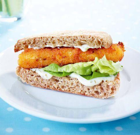 Fischstäbchen Sandwich - Schnelle Hauptgerichte für Kinder - 1 - [ESSEN & TRINKEN]