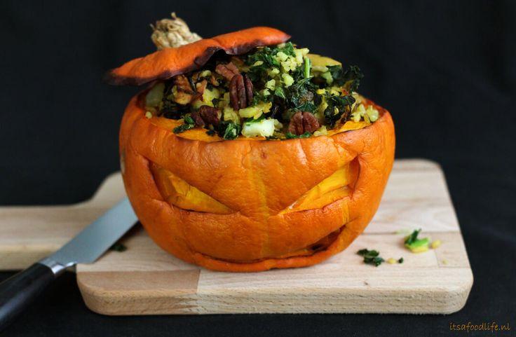 Gevulde-pompoen | Halloween | It's a Food Life