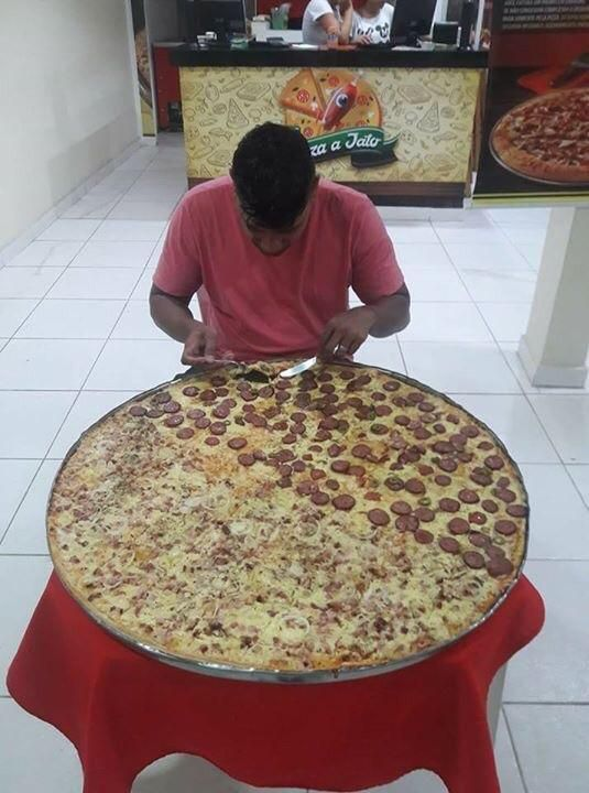 Extra large pizza in Brazil #pizza #food #foodporn #yummy #love #dinner #salsa #recipe