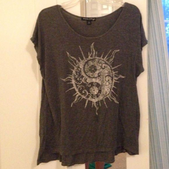 Hippie shirt Grey living doll shirt. Tops Tees - Short Sleeve