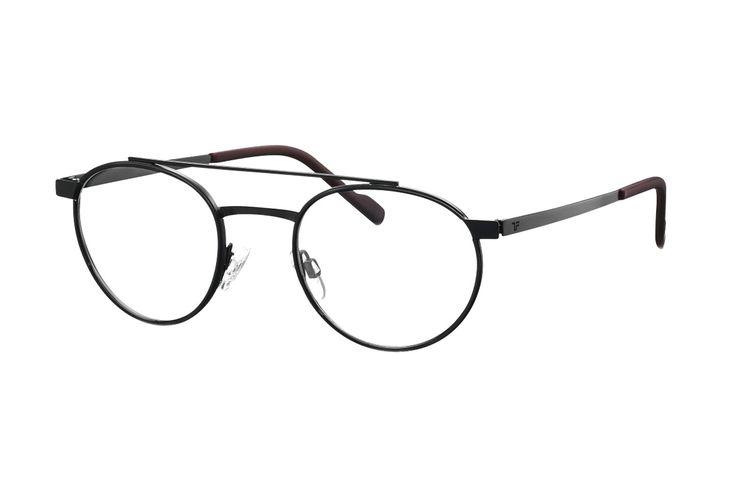 TITANflex 820748 10 Brille in schwarz matt/schwarz bordeaux | Die Korrektionsbrillenbrillen von TITANflex zeichnet sich durch eine moderne, schlichte Form aus. Die Brillenbügel unterstützten die Fassung hervorragend. Durch das geringe Gewicht und die hochwertige Verarbeitung lassen sich diese...