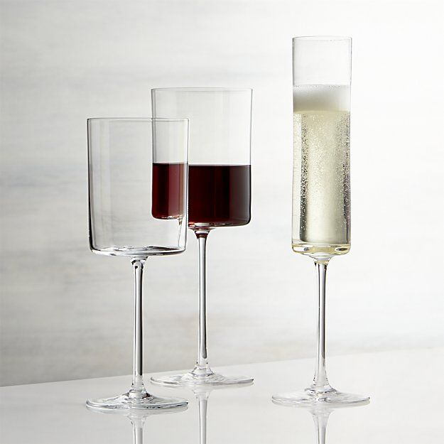 Edge Wine Glasses | Crate and Barrel