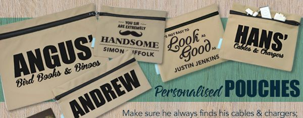 Personalised pounches - zipbags - bookbags, utility bags, pencil cases all personalised online
