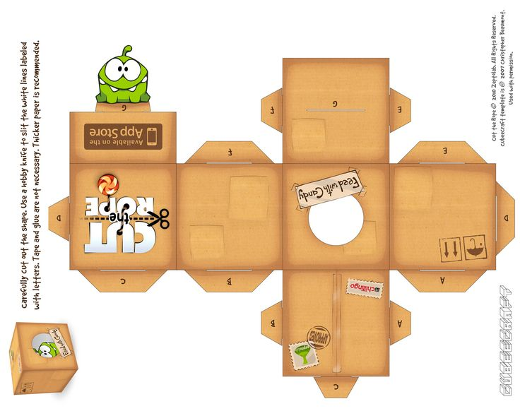 cut the rope papercraft | Papercraft 1