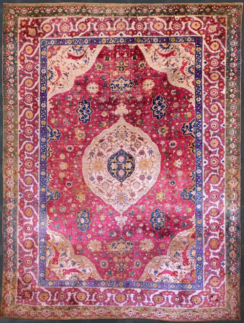 Persian Carpet The Rothschild Small Silk Medallion Century Museum Of Ic Art Doha Enlarge Image To See Detail