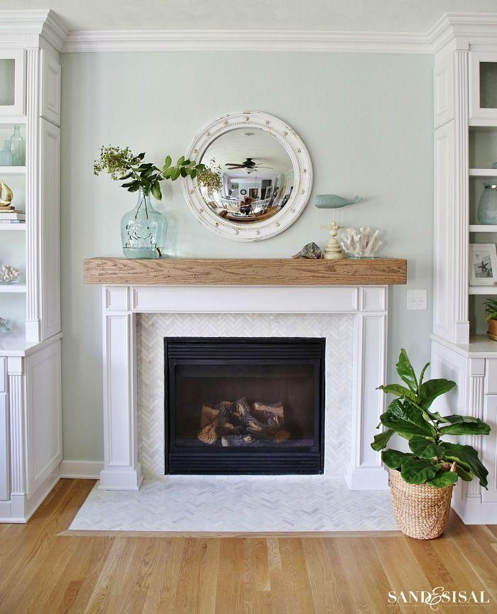 DIY Wood Beam Mantel