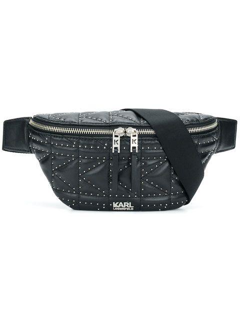 cca9ddf7235e Karl Lagerfeld Studs quilted belt bag