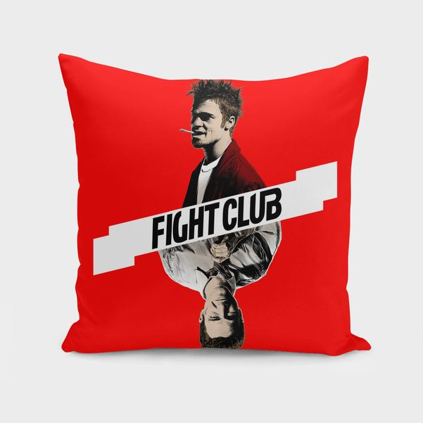 Discover «Fight Club», Exclusive Edition Throw Pillow by Paola Morpheus: dissociation; poverty; male archetypes; lots of things there's no clinical language for. #fightclub #t-shirts #tylerdurden #bradpitt #edwardnorton #mmafight #mma #fighter #blood #psycopaty #dissociation #paolamorpheus #design #bestt-shirts #girls #boys #gift #2017 #youandme #tfw #squad #trendy #trends #antisocialsocialclub #supremenewyork #streetwear