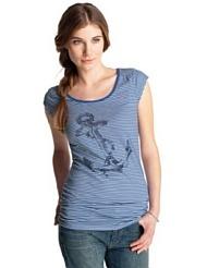 ESPRIT Damen T-Shirt, gestreift C21665