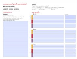 goal setting worksheet & other tips | lululemon athletica