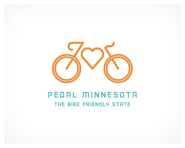 Pedal Minnesota new cycling logo. Minnesota, a state that's actively courting cyclists--most recently, through Pedal Minnesota, a new campaign aimed at making it easier for locals and tourists to get around by bike. Love it a lot.
