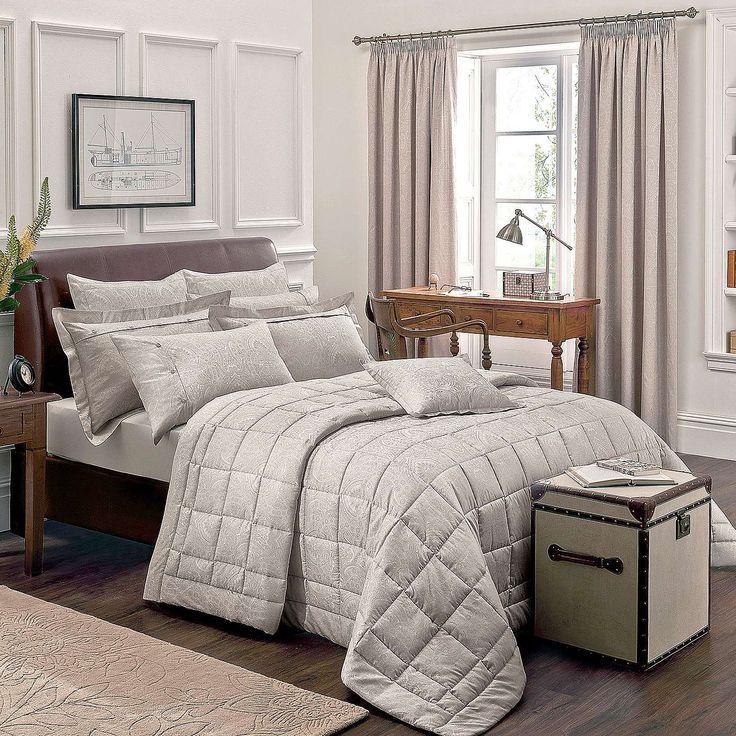 dorma paisley natural bed linen collection dunelm home. Black Bedroom Furniture Sets. Home Design Ideas