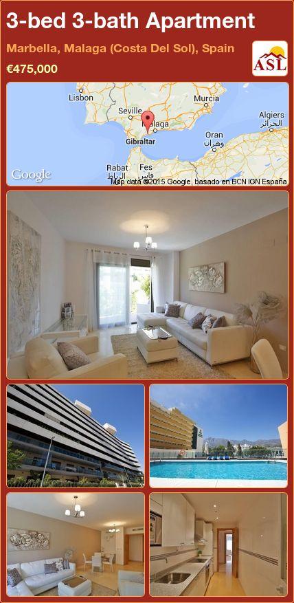 3-bed 3-bath Apartment in Marbella, Malaga (Costa Del Sol), Spain ►€475,000 #PropertyForSaleInSpain