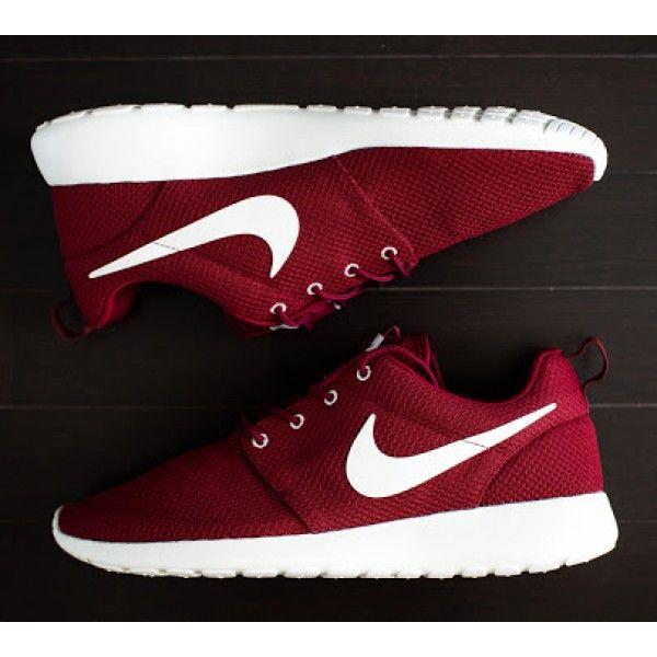 8ad2c56981a80 ... Nike Roshe Run Womens Mens Mesh Maroon Red White Burgandy ...