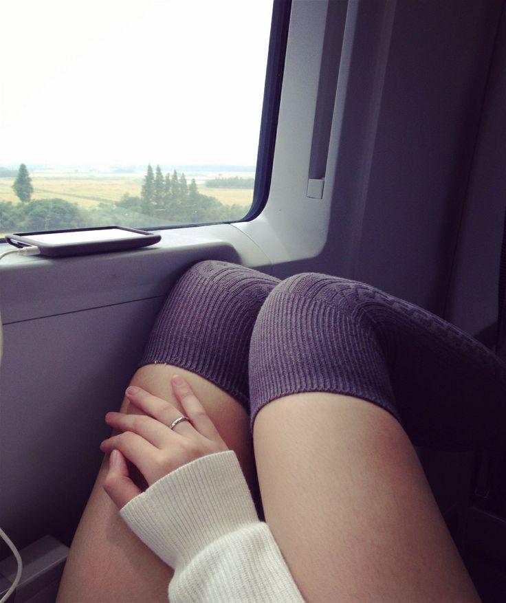 Grey knee length socks