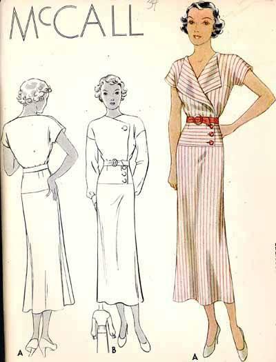 MCCALL Pattern 7917 | 1930s Misses' Dress