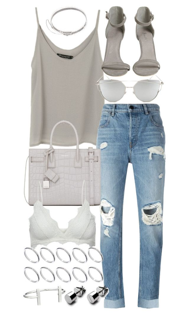 """""""Untitled #19940"""" by florencia95 ❤ liked on Polyvore featuring Alexander Wang, Yves Saint Laurent, Chicnova Fashion, Anine Bing, ASOS, French Connection and Eddie Borgo"""