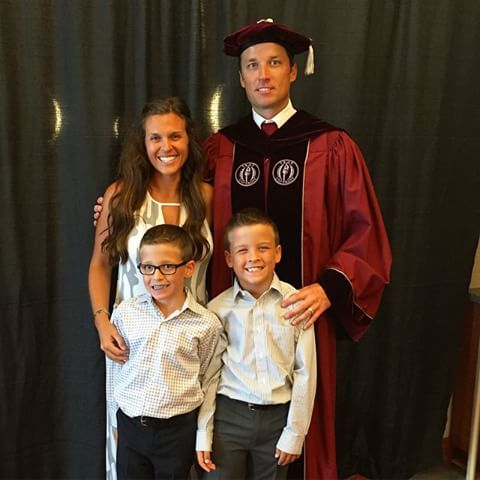Lawrence Tynes Troy Graduation with family