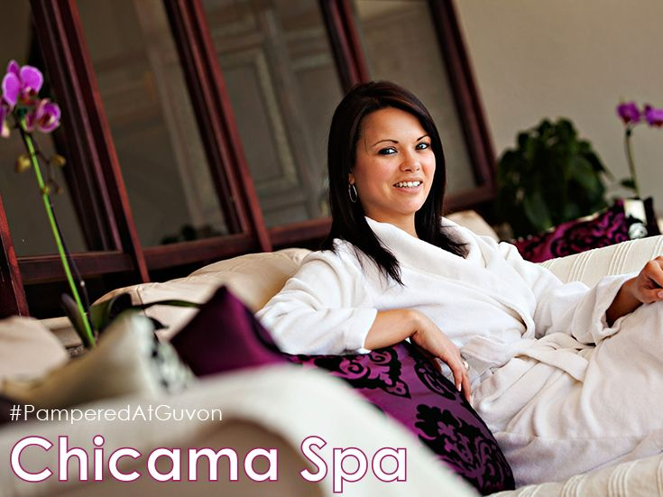 """The award-winning Chicama Country Spa at Glenburn Lodge, in the heart of the Cradle of Humankind, is located in tranquil, scenic and calming surroundings with spectacular views from every angle. Our """"Vineyard"""" theme and décor is complemented with the use of Theravine products. #PamperedAtGuvon #atGuvon #relax #spa"""