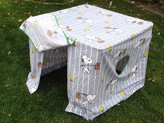 Fold up card table fort -- blog has more images and links to original sites