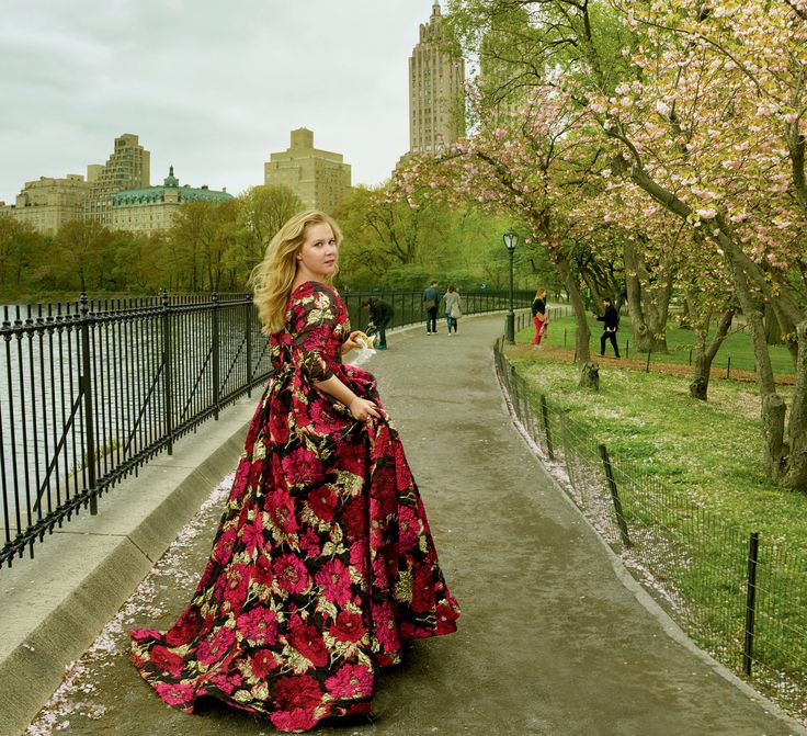 Nature's Way - With a nonstop schedule, Schumer takes care of herself by practicing TM, getting acupuncture, avoiding caffeine, and juicing every morning. Naeem Khan dress.