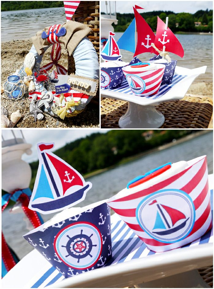 A Rustic Shabby Chic Nautical Birthday Party