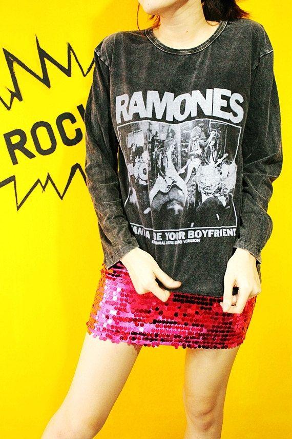 RAMONES I Wanna Be Your Boyfriend Art by SoYouThinkYouCanRock, $20.99