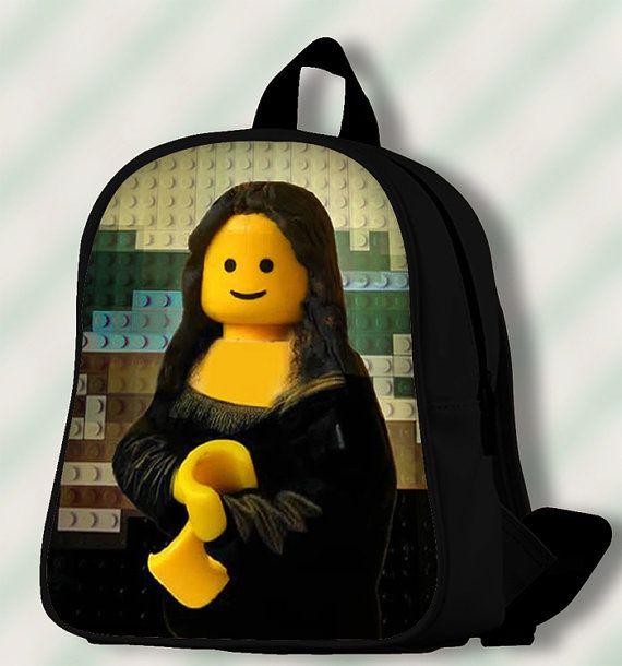 Lego  Mona Lisa  Custom SchoolBags/Backpack for by SmileSchoolBags
