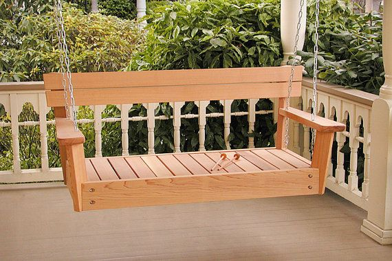 Musical Porch Swing: Made from red cedar, it comes with mallets and