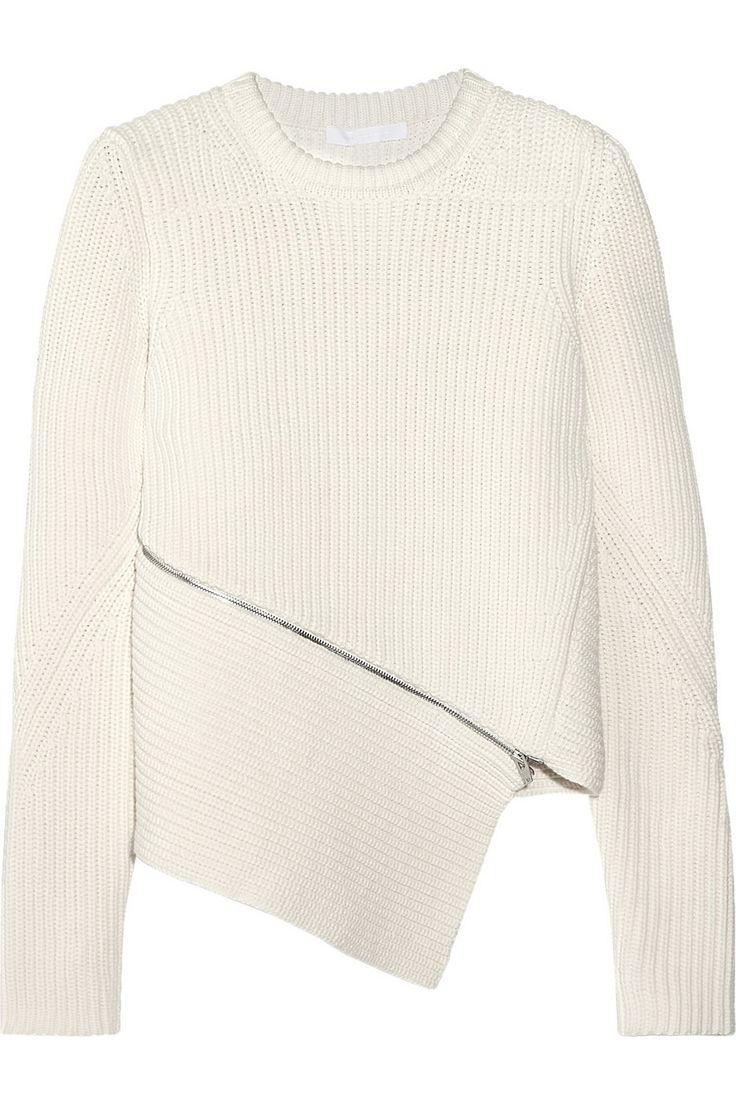 Alexander WangRibbed cotton-blend sweater