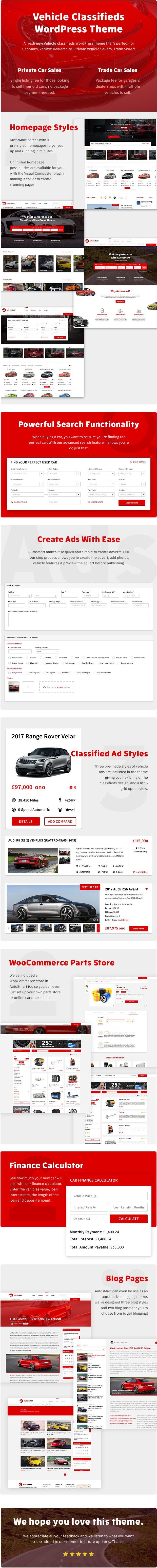 Autosmart automotive car dealer wordpress theme