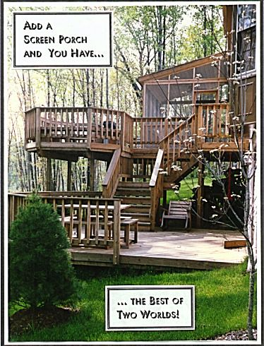 screened in deck ideas | ... decks, Deck Builders, screen porch, front porch, porch designs, deck