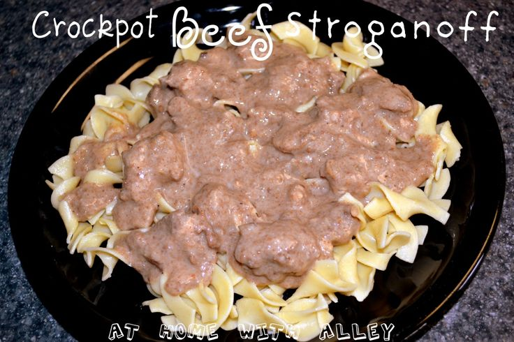 Beef Stroganoff {Crockpot/Slow Cooker} made it today...family inhaled it!!! Definitely adding it to the rotation.. Super easy!!