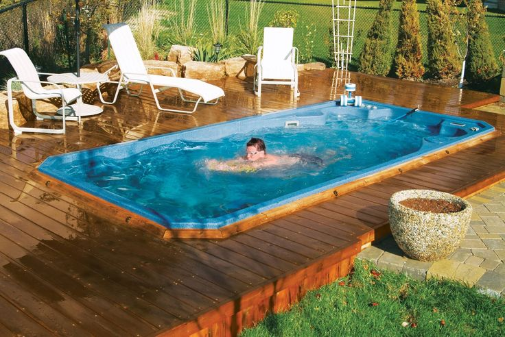 Swim Spa With Wraparound Deck Swimming Pool Pinterest