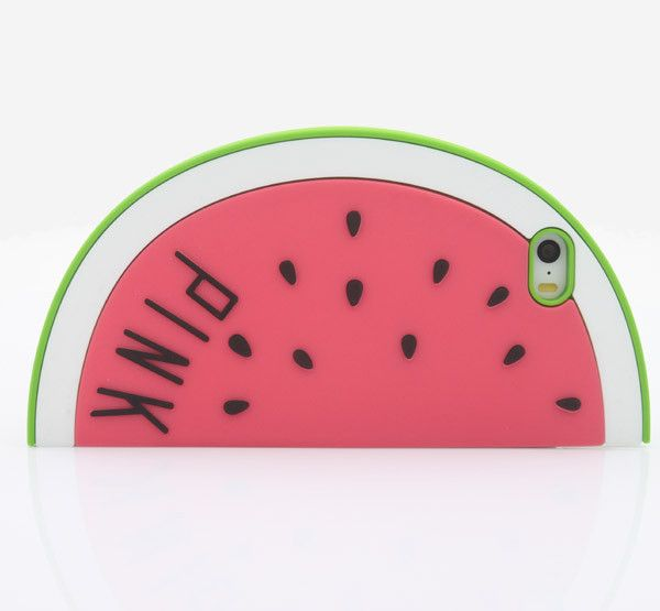 New Cartoon Case Watermelon Cartoon Model Silicone Cover Case For Iphone 4 4S 5 5S SE 6 6S Soft Rubber Cover