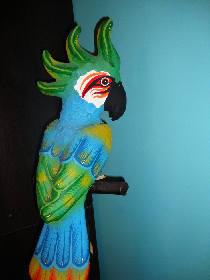 how to make a parrot with paper