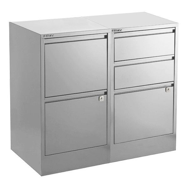 Bisley Silver 2  3 Drawer Locking Filing Cabinets ($199) ❤ Liked On  Polyvore Featuring Home, Furniture, Storage U0026 Shelves, File Cabinets, Three  Drawer File ...
