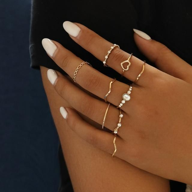 PRODUCT DESCRIPTION: Trendy Hollow Geometric Rings Set in Gorgeous Varieties. Specifications: Metals Type: Copper Alloy Material: Metal Item Type: Anklets Style: Trendy Fine or Fashion: Fashion Hand Jewelry, Simple Jewelry, Cute Jewelry, Jewelry Gifts, Jewelry Accessories, Women Jewelry, Fashion Jewelry, Simple Gold Rings, Jewelry Box