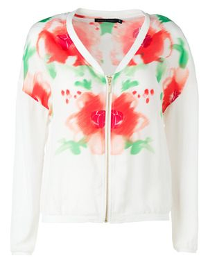 Flower printed jacket